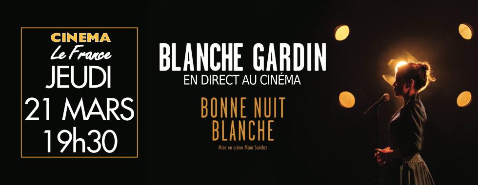 Photo du film Blanche Gardin en direct au cinéma - Bonne nuit Blanche